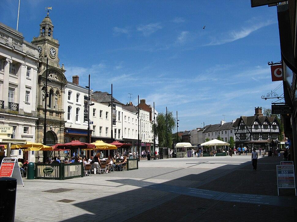 Hereford, High Street pedestrian shopping area