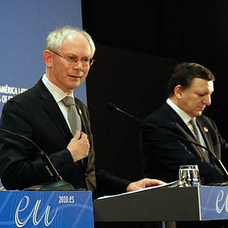 Herman Van Rompuy - Van Rompuy in a joint press conference with José Manuel Barroso, the President of the European Commission in May 2010
