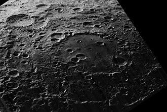 Hertzsprung (crater) - Oblique Lunar Orbiter 5 image