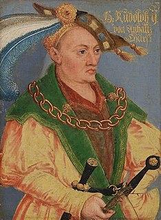 Rudolf II, Duke of Saxe-Wittenberg Elector of Saxony and Duke of Saxe-Wittenberg
