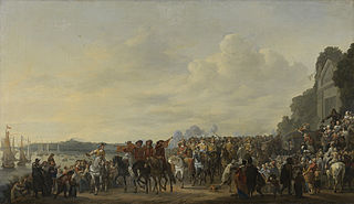 Charles II (1630-1685) stopping at the Estate of Wema on the Rotte on his Journey from Rotterdam to The Hague, 25 May 1660