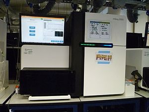 Massive parallel sequencing - An Illumina HiSeq 2000 sequencing machine