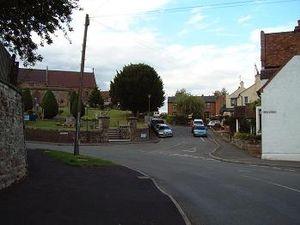 Cubbington - Queen Street, Cubbington with The Kings Head and St. Mary's parish church