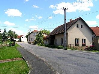Hořice (Pelhřimov District) - Image: Hořice, main street