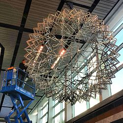 Hoberman Sphere maintenance.jpg