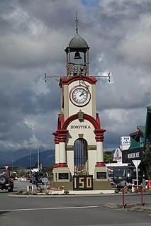 Hokitika Clock Tower memorial and clock tower in New Zealand