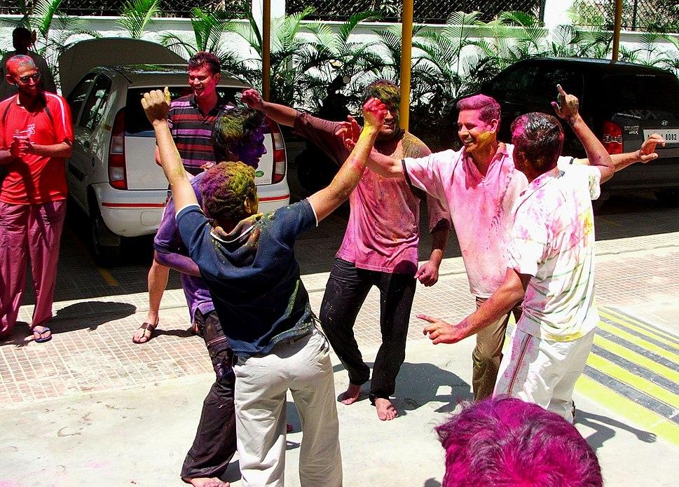Holi Celebration in Hyderabad India, March 2009