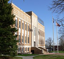 Holt County, Nebraska courthouse from NW 1.JPG