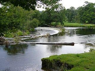 Horseshoe Falls (Wales) waterfall in Denbighshire, Wales