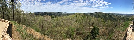 Hot Springs National Park woodlands from an overlook Hot Springs National Park, AR.jpg