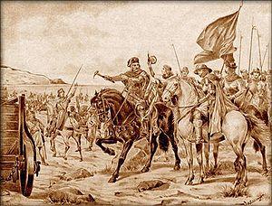 Polish–Teutonic War (1431–35) - A Hugo Schüllinger painting of Hussite warriors