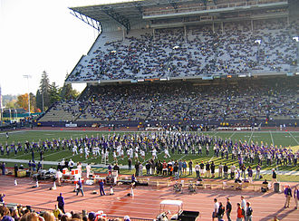 University of Washington Husky Marching Band - Image: Husky Stadium pregame show band
