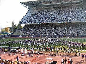 University of Washington Husky Marching Band - Image: Husky Stadium pregame show band
