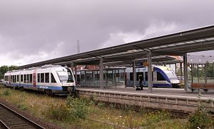 Husum (Germany) station - Trains to Kiel and St. Peter