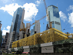 Hysan Place - Hysan Place under construction in July 2010.