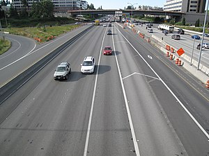 Bellevue, Washington - I-405 as seen from the NE 8th Street Overpass