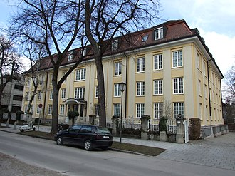 Ifo Institute for Economic Research - The main building of the Ifo institute in Munich. Address: Poschinger Straße 5.