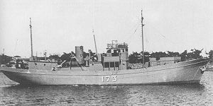 No.1-class auxiliary patrol boat - Image: IJN auxiliary partorl boat No 173 1945