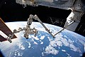 ISS-59 Canadarm2 with Dextre as well as SpaceX CRS-17 Dragon.jpg