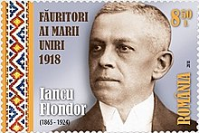 Iancu Flondor 2018 stamp of Romania.jpg