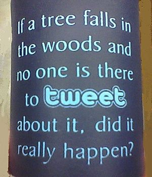 Anti-proverb - Drink koozie with anti-proverb mocking Twitter
