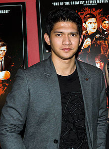 A photograph of Iko Uwais taken in New York City during its screening on 14 March 2014