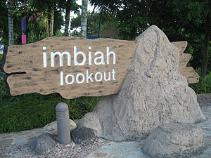 Imbiah Lookout - The main entrance sign at Imbiah Lookout.