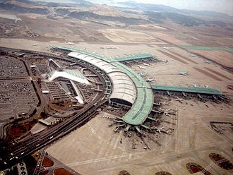 Incheon International Airport - Aerial view of Terminal 1