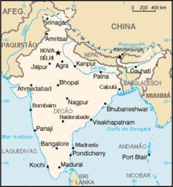 Mapa da Índia.