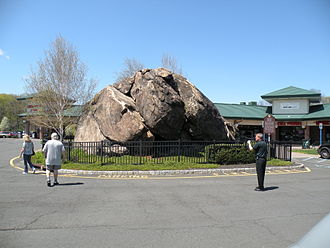 Glacial erratic - Indian Rock in the Village of Montebello, New York