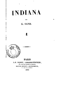 Image illustrative de l'article Indiana (roman)
