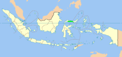 Location of Gorontalo in Indonesia