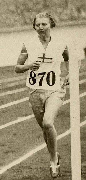 Inga Gentzel - Inga Gentzel at the 1928 Olympics