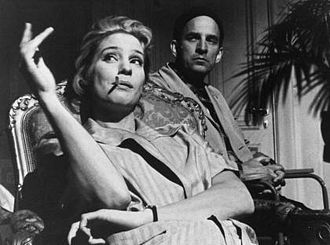 Ingrid Thulin - Ingmar Bergman and Ingrid Thulin during the production of The Silence