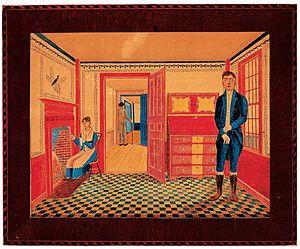 Interior of John Leavitt's Tavern, Joseph Warr...