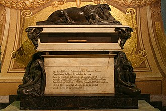 Tomb of Francisco Pizarro in the Lima Cathedral Interior of the Cathedral of Lima (2).jpg