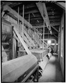 Interior view, 3rd floor, view along gray reel and plansifters. - Fisher-Fallgatter Mill, Waupaca, Waupaca County, WI HAER WIS,68-WAUP,1-29.tif
