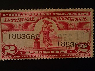 Insular Government of the Philippine Islands - This revenue stamp for the Philippine Islands was issued in 1930.