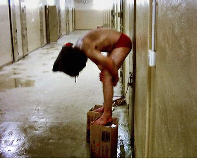 Iraqis tortured at Abu Ghraib, From WikimediaPhotos