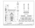 Isaac M. Wise Temple, Eighth and Plum Streets, Cincinnati, Hamilton County, OH HABS OHIO,31-CINT,12- (sheet 1 of 2).png