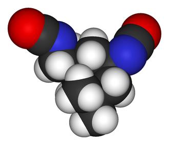 Isophorone diisocyanate - Image: Isophorone diisocyanate 3D vd W