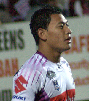 Greater Western Sydney Giants - Israel Folau, a high-profile recruit by the club. The former rugby league player was from the Brisbane Broncos