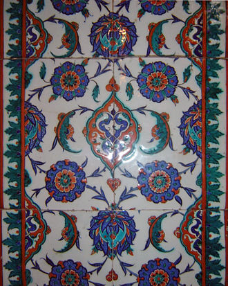 İznik - Iznik tiles inside the Selimiye Mosque in Edirne