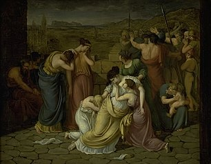 Andromache in Despair at the Sight of Hector's Body