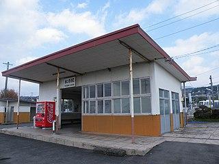 railway station in Omura, Nagasaki prefecture, Japan