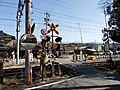JR Iida line Nakaizawa Level Crossing 20200224.jpg