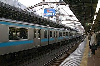 Kannai Station Railway and metro station in Yokohama, Japan