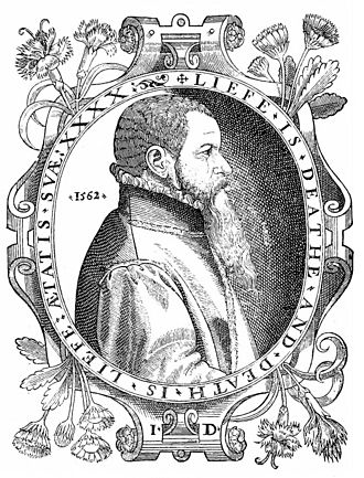 John Day (printer) - Woodcut of John Day (dated 1562) included in the 1563 and subsequent editions of Actes and Monuments