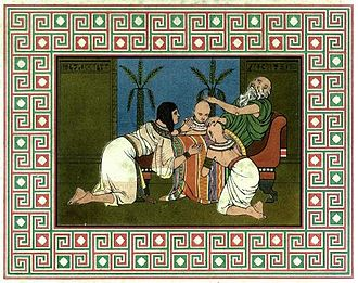 Manasseh (tribal patriarch) - Jacob blessing Ephraim and Manasseh.