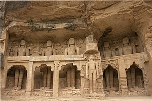 Gwalior - Jain statues at Gwalior built by dungar singh